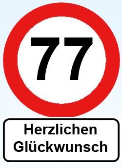 77. Geburtstag