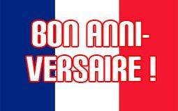 Geburtstag französisch