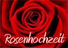 Glückwünsche zur Rosenhochzeit