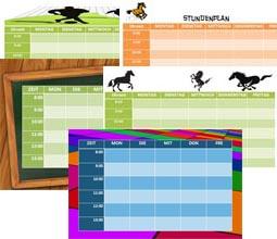 Stundenplan zum Ausdrucken