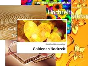 Goldene Hochzeit Karten zum Ausdrucken
