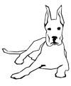 Dogge Malvorlage