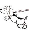 Hund an der Leine Malvorlage