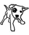 Vorlage lustige Hund