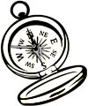 Kompass Malvorlage f�r Kinder zum Malen