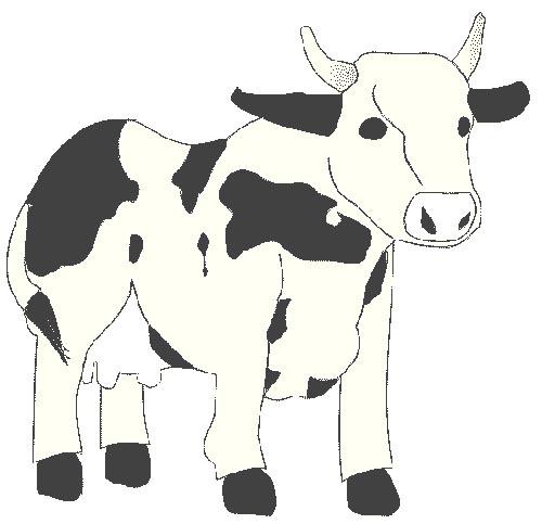 Kuh Malvorlage zum Ausmalen für Kinder