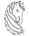 Kunstvolles Pferdemotiv zum Ausdrucken