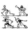 Lustige Piraten Malvorlage zum Ausdrucken