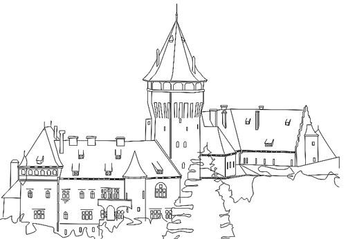 ausmalbilder dornröschenschloss