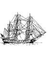 Segelschiff Malvorlage zum Ausmalen