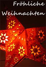 Fröhliche Weihnachten Karte mit rotem Stern