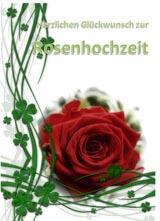Glückwünsche zur Rosenhochzeit Karte