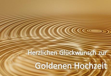 Goldene Hochzeit Karte