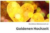Moderne Karte zur Goldene Hochzeit zum Ausdrucken