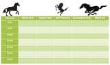 Pferde Stundenplan zum Ausdrucken