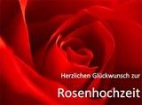 Rosenhochzeit Karte zum Ausdrucken