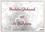Silberhochzeit Vorlage einer Glückwunschkarte