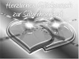Silberhochzeitskarte als Word Vorlage