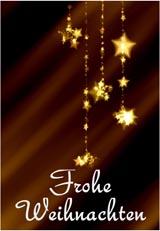 Weihnachtskarte Schlicht mit Goldenen Sternen